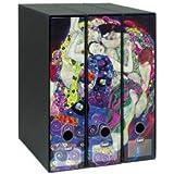 Set tre portariviste Image - Formato Protocollo - Dorso 8 cm - Gustav Klimt - La vergine