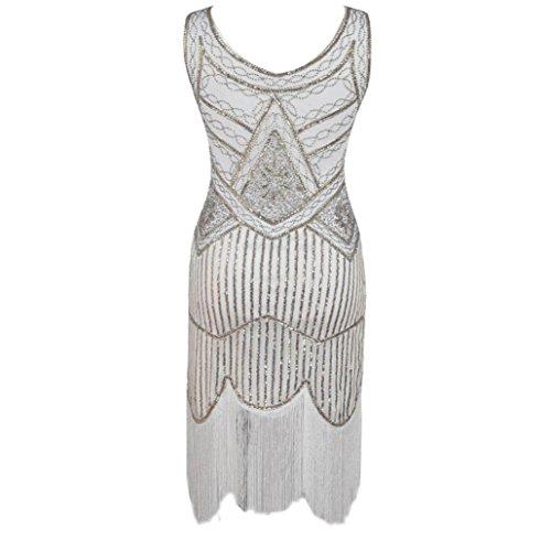 MCYs Vintage 1920s Pailletten Perlen Quasten Hem Flapper Dress ...