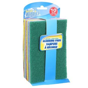 Scrub Buddies Light Duty Scouring Pads - 10 Pack