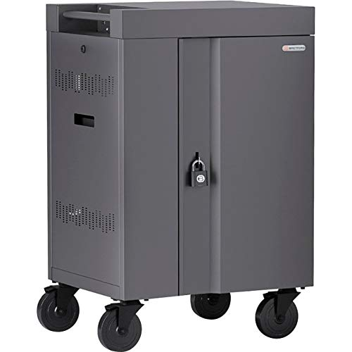 Image of 270 Degree Doors - cart (Charge only) for 20 Tablets/notebooks - Lockable - Welded Steel - Concrete Audio & Video Accessories
