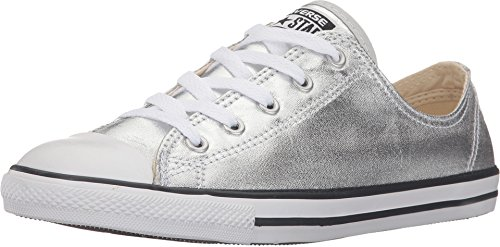 converse-womens-all-star-dainty-shoes-pure-silver-black-white-size-105