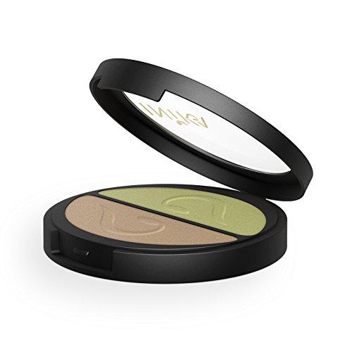 INIKA Pressed Mineral Eye Shadow Duos, All Natural Eye Make-up Formula, Long-Lasting, Vibrant Colors, Vegan, 3.9 g (Khaki ()