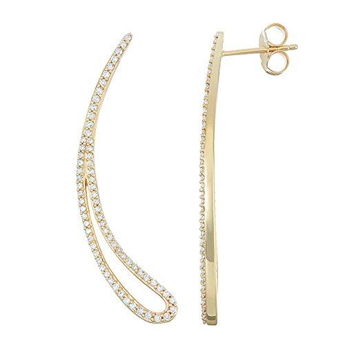 I.B.G. 14k Yellow Gold 1/2ct tw Diamond Earrings