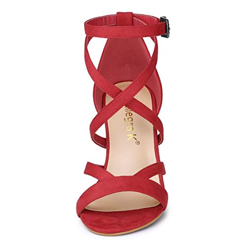 Sandals Strap Crisscross Women Red Ankle K Allegra IUqXxwEnRg