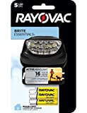 Rayovac LED Headlamp Flashlight, Value Bright Active Headlight Flash light - High Mode LED for Running, Camping and Emergencies