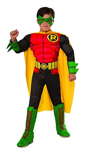 Big Boys' The New 52 Robin Muscle Dc Comics Costume deluxe (Robin Deluxe Costume)