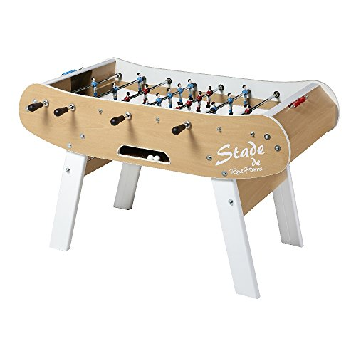 René Pierre Foosball Table - Le Stade. Designed with Safety Telescoping Rods with Ergonomic Handles and Single Goalies