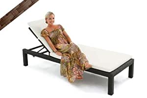 Impulses Resin Wicker Outdoor Chaise Lounge Chair LINEA, Brown