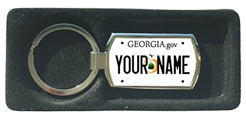 BleuReign(TM) Personalized Custom Name Georgia State License Plate Metal Keychain ()