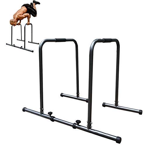 HT&PJ Multifunctionele dip-barren-fitnessoefening met instelbare breedte, draagbaar dipstation, geschikt voor…