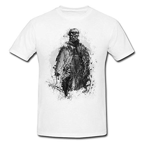 Battlefield Soldier T-Shirt Frauen, Mädchen mit stylischen Motiv von Paul Sinus