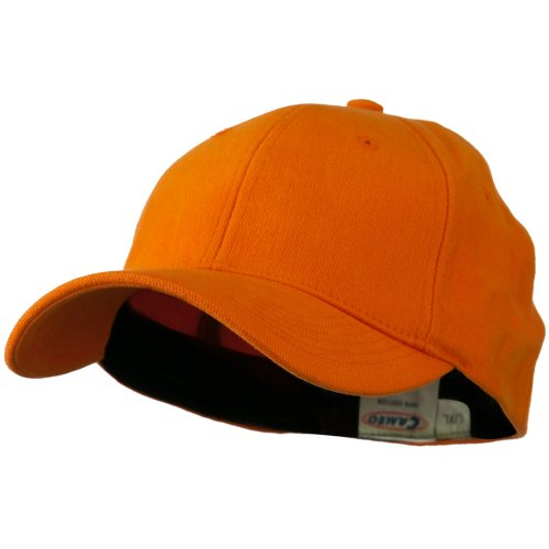 Stretch Heavy Weight Brushed Cotton Fitted Cap - Orange L-XL (Orange Fitted Cap)
