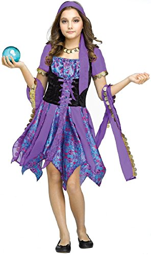 Half Man Half Woman Costume Pictures (Purple Gypsy Lady Magic Child Girls Costume Fancy Dress Fortune Teller)
