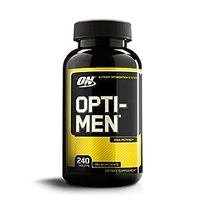 OPTIMUM NUTRITION Opti Men, Mens Daily Multivitamin Supplement with Vitamins C, D, E, B12, 240 Count