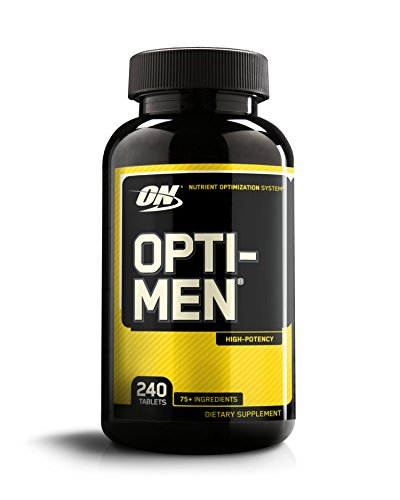 OPTIMUM NUTRITION Opti-Men, Mens Daily Multivitamin Supplement with Vitamins C, D, E, B12, 240 Count (Every Man 180 Tabs)
