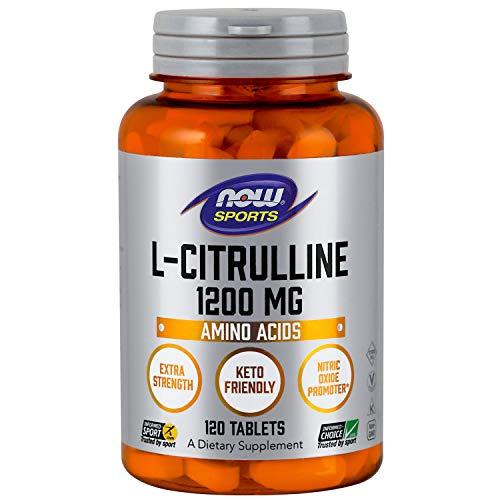 - NOW® L-Citrulline, 1200 mg, 120 Tabs