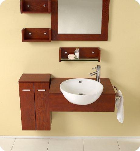 Fresca Bath FVN3520 Stile Modern Bathroom Vanity with Mirror and Side Cabinet by Fresca Bath