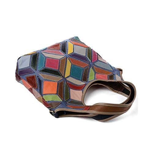 avec coutures à la Sac bandoulière pour homme Yxpnu main diagonal à Yp0nxY18