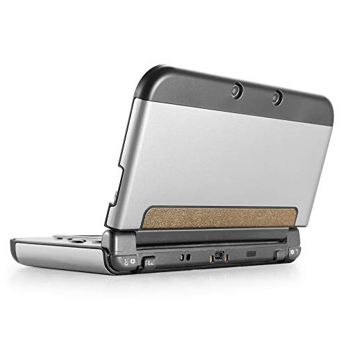 (TNP New 3DS XL Case (Silver) - Plastic + Aluminium Full Body Protective Snap-on Hard Shell Skin Case Cover for New Nintendo 3DS LL XL 2015 - [New Modified Hinge-Less Design])