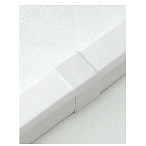 因幡電工 配管化粧カバー ジョイント 直線継手 ホワイト MJ-75-W