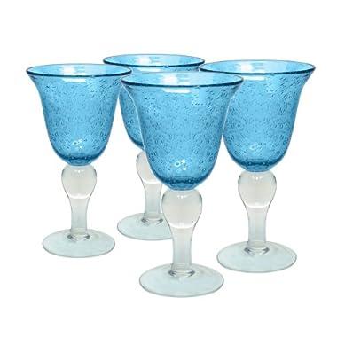 Artland Iris Goblet, Turquoise, Set of 4