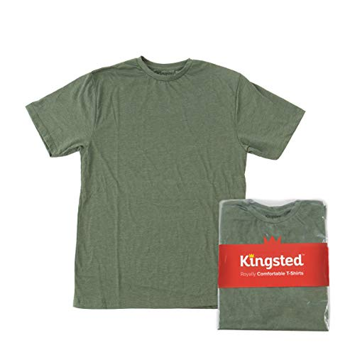 Kingsted Men's T-Shirt - Royally Comfortable - Elite Fabric - Well-Crafted - Short Sleeve (Green, Large)