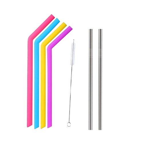 Tovantoe Straws3998 Reusable Silicone Straws, Multicolor