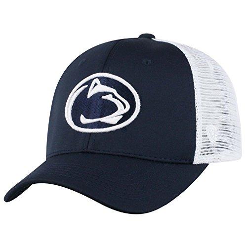 Football Mesh Cap (Top of the World NCAA-Ranger Trucker Mesh-Adjustable Snapback Hat Cap (Penn State Nittany Lions-White, Adjustable))