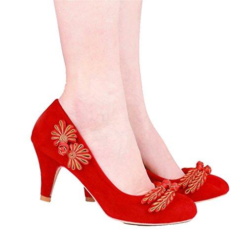 avec avec une rouge chinoise pour hauteur mariée 5 Chaussures rouge talons cm Mariée grand femmes hauts couleur XxEqq8wvP