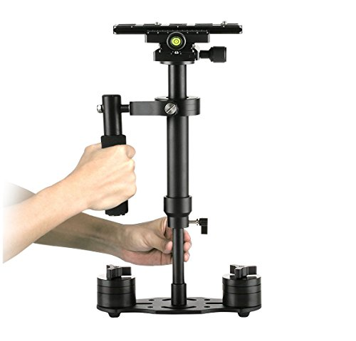 Dazzne S40 Camera Stabilizer dslr 15.75''/40cm Steadycam with Quick Release Plate 1/4'' and 3/8'' Screw Screw for Video Camera,DSLR Nikon, Canon, Sony, Panasonic-up to 0.2-1.5kg/0.44-3.31Ib by Dazzne