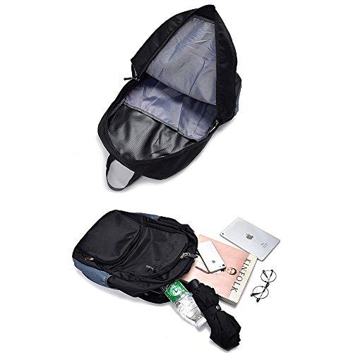 Beatsport - Bolso mochila  de Nylon para mujer Negro A-purple B-green