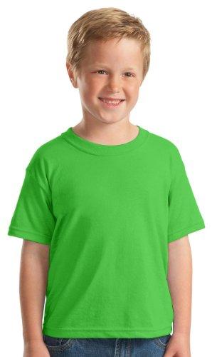 Gildan Big Boys' DryBlend Moisture-Wicking T-Shirt, Small, Electric Green