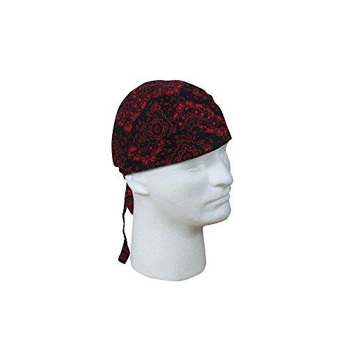Black & Red Paisley Trainmen Headwrap