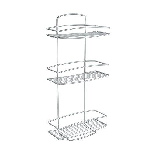 Review Metaltex USA Inc. 46.00.33 Onda Rectangular Shelf with 3-Tier Safefix, By Metaltex USA Inc. by Metaltex USA Inc.