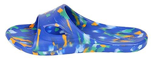 Slip-on Zapatillas sandalias playa Mule EVA espumas de ducha antideslizante suela zapatos de piscina baño Slide para adultos negro