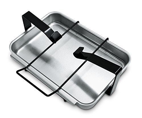 Silver Weber Grill Parts - Weber 7515 Catch Pan and Holder