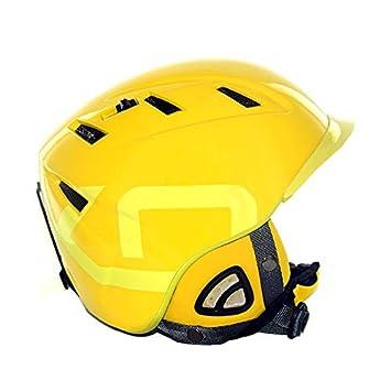 Briko casco de esquí 10.0 concurso Cruz amarillo w/concurso orejas incluye tamaño grande 59