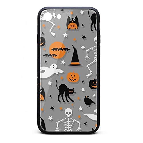 Halloween Skeleton Pumpkin Ghost Gray I-Phone 7/8 Case Ultra Slim Case Anti-Finger Fashion for I-Phone -