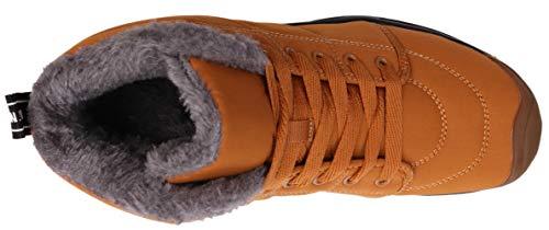 Snow brown Lined Winter 2 BRONAX Fur Women Boots 1Iqgq8