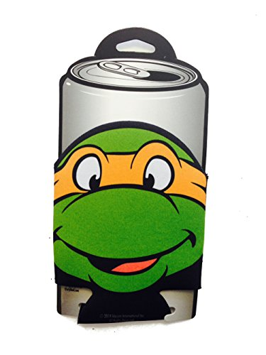 Michelangelo Face Teenage Mutant Ninja Turtles Can Cooler Koozie (Ninja Turtles Face)