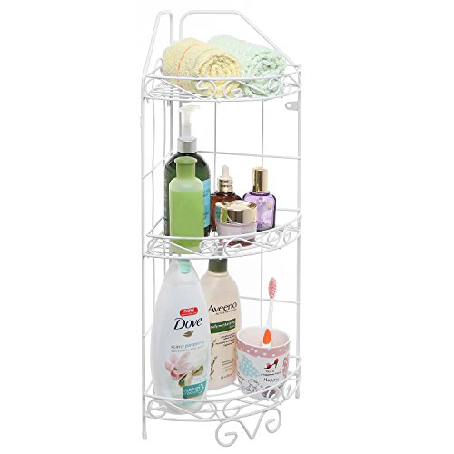 Scrollwork Mounted Bathroom Storage Organizer