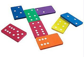 5パック学習リソースJumbo Foam Dominoes Set of 28の商品画像