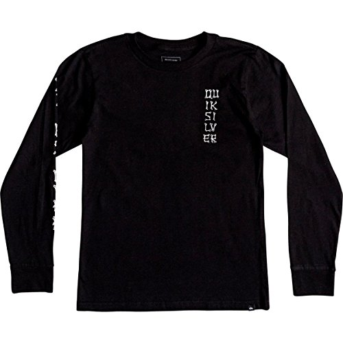 Quiksilver Boys' Big Bone Party Youth Long Sleeve TEE Shirt, Black, M/12