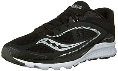 Saucony Men's Kinvara 7 Running Shoe,Black/White,US 7 M