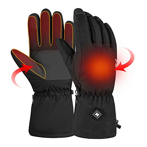 [Upgrade] Winter Heated Gloves for Men Women, Rechargeable Battery Touchscreen Warm Thermal Hand Warmer Gloves, Electric…