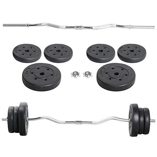 Gym Lifting Exercise Curl Bar Workout Olympic Barbell Dumbbell Weight Set