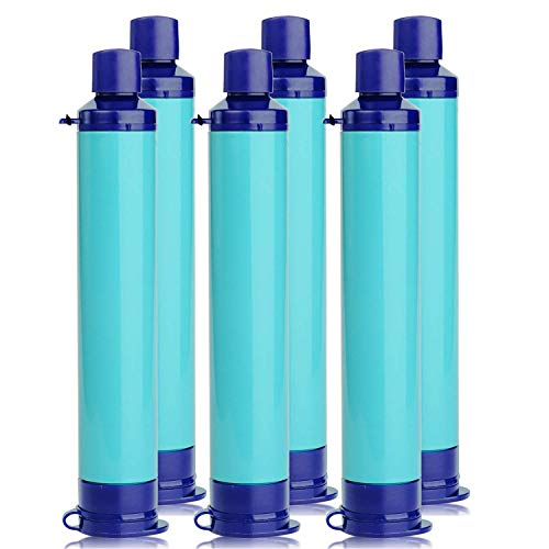 Membrane Solutions Water Filter Straw Survival Filtration Portable Purifier Gear Emergency Preparedness Supply for Drinking Hiking Camping Travel Hunting Fishing (Best Survival Water Purifier)