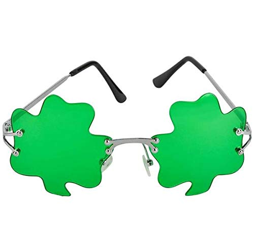 Rhode Island Novelty St. Patricks Day Green Shamrock Irish Clover Sunglasses ()
