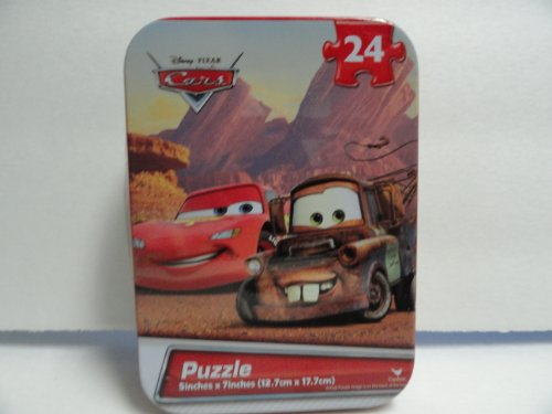 Disney Cars 24 Piece Jigsaw Puzzle in Travel Tin (Travel Tin)