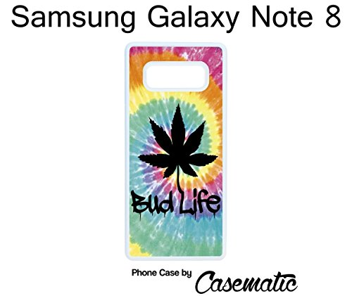 - Samsung Galaxy Note 8 Case Bud Life Mary Jane Weed Rubber White Protective Phone Case For Samsung Galaxy Note 8 Phone Case by Casematic